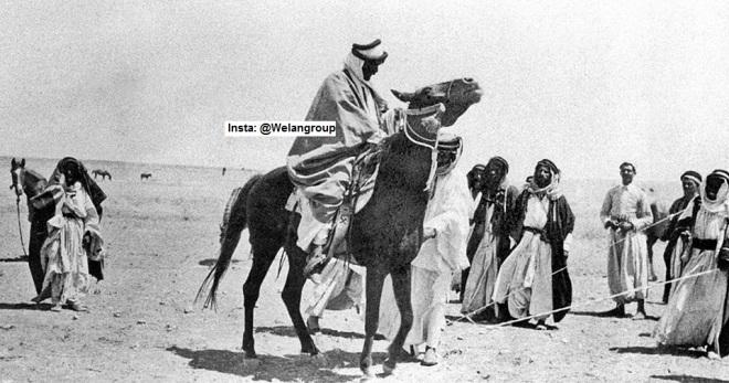 الشيخ حاكم ابن مهيد فوق حصانه سنة 1906 م