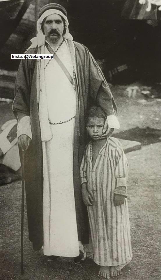 صورة نادرة للأميرنوري بن شعلان من شيوخ عنزة 1899م
