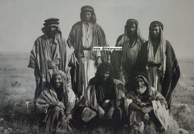 مجموعة من رجال وفرسان قبيلة الروله(من عنزة) 1899م