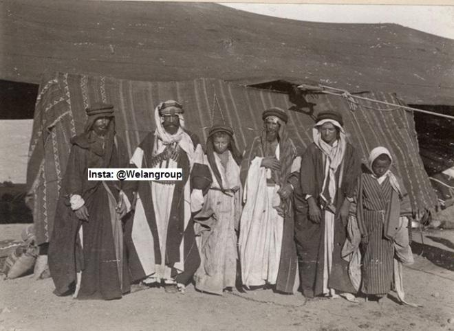 وجهاء من قبيلة السبعة من ضنا عبيد من بشر من عنزة1917